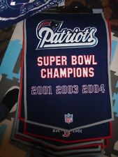 NEW England Patriots Dynasty Collection Wool Blend Team Banner Championship