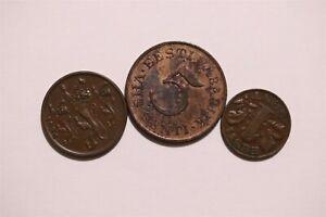 ESTONIA 1ST REPUBLIC - 3 BRONZE COINS LOT B34 II2