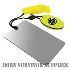 Ultimate Survival FLOATING SIGNALLING MIRROR & WHISTLE COMBO - Emergency Signal