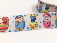 1Yard 1'' Rainbow Animals Printed Grosgrain Ribbon Hair Bow Sewing Ribbon