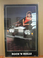 Vintage Rock 'N Rolls 1985 poster hot girl man cave car garage  3547