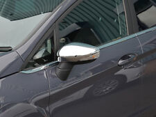 CHROME SIDE DOOR WING MIRROR TRIM SET COVERS FOR FORD FIESTA 2008-12