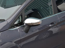 CHROME SIDE DOOR WING MIRROR TRIM SET COVERS FOR FORD B-MAX 2012+