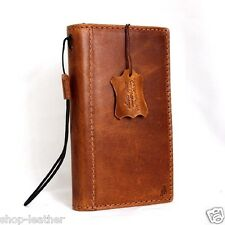 genuine vintage leather Case for Htc One m9 book wallet ID cover magnet thin new