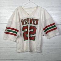 Vintage 80s Mesh Mens Football Cropped Jersey SC REDMEN #22