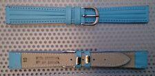 Correa de Piel Legitima para Reloj - 16mm - Hebilla De Metal - Color Azul -