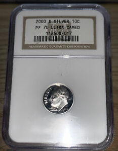 2000-S Silver Proof Roosevelt Dime NGC PF70 Ultra Camel 017