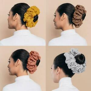 1X Fashion Chiffon Flexible Rubber Band Volumizing Scrunchie Big Bow Headwear HO