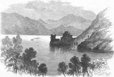 SCOTLAND. Urquhart Castle, Loch Ness, antique print, 1868
