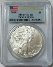 2010 AMERICAN SILVER EAGLE $1 DOLLAR COIN PCGS MINT STATE 69 MS 69 FIRST STRIKE