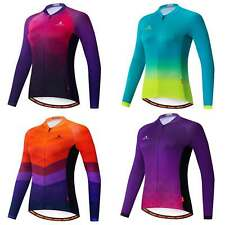 Miloto Women's Long Sleeve Cycling Jersey Ladies Bike Cycle Jacket Long Shirt