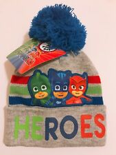 "PJ Masks ""Heros"" Kids Toddler Boys Beanie Hat and Gloves 2 Piece Winter Gift Set"