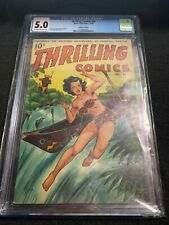 THRILLING COMICS #69 CGC 5.0 Graded Slab Alex Schomburg Painted Good Girl Cover