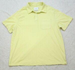XL Pocket Polo Shirt Short Sleeve Men's Cotton Extra Large Yellow Goodfellow Co.