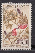 TIMBRE MONACO OBL N° 582   OISEAUX  rouge george