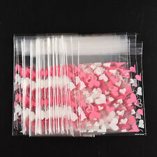 100pcs Sweet HeartPic.self-adhesive plastic Valve bags for Handmade biscuits HU