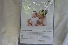 Audley Home 100% Egyptian Cotton 800TC 3 Piece TWIN XL Sheet Set BLUE STRIPE