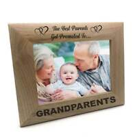Best Parents Promoted To Grandparents Wooden Photo Frame Gift FW104