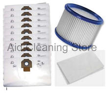 10 x Cloth Bags + Motor Filter X3 for NILFISK ALTO AERO Vacuum Cleaner Hoover