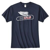 New Dekalb Seed Flying Corn Harvest Mens Navy Vintage T-Shirt Farmer USA
