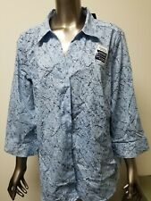 """New Basic Editions  Womens """"Slimming Systems""""  Blouse Top."""