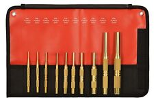 MAYHEW 61387 10 PC BRASS METRIC PIN PUNCH SET 1.5 2 2.5 3 4 5 6 8 10 12 MM