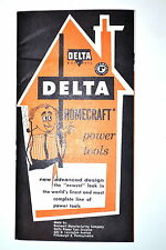 Delta Homecraft Power Tools Pocket Catalog Rr894 Saw Jointer Drill Press Lathe