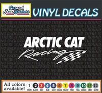 "8"" Arctic Cat Racing snowmobile Vinyl Car truck Decal window bumper sticker"