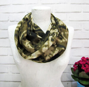 Camouflage Green Spring Modern Voile Infinity Scarf/bohemian style shawl -1 qty