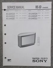 Service Manual Sony KV-24  Chassis BE-3D