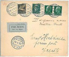 ITALIA storia postale - PRIMI VOLI - cat  SASSONE 206 : VENEZIA / TRENTO 1930