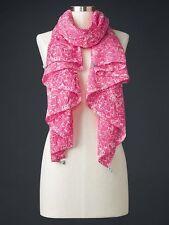 0cffe19f3 Gap Womens Pareo Paisley Tie Dye Pink White Scarf Shawl Wrap Oversize Cotton