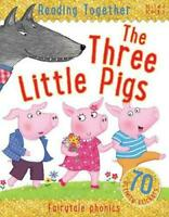 Reading Together The Three Little Pigs by Miles Kelly, Good Used Book (Paperback