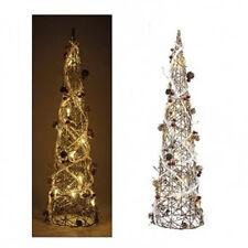 Davartis - Lichterpyramide Metall / Rattan - 10 LED - ca. 60cm