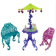 Amusement Bar Couch Chair Table Dessert Umbrella Kid Toy Doll House Furniture Vy