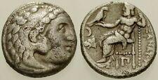 025. Greek Silver Coin. ALEXANDER III. AR Drachm. Herakles / Zeus. aVF
