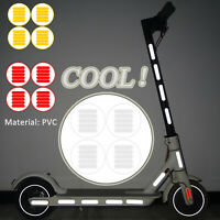 Night Warning Body Light Reflective Sticker Set for Xiaomi M365 Electric Scooter