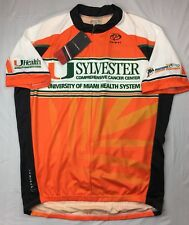 Primal University Of Miami Cycling Jersey Mens XL Sylvester Cancer UM Hurricanes