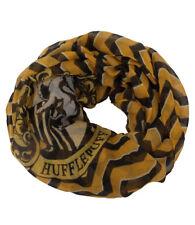 Harry Potter Hufflepuff Logo Illustrated Lightweight Polyester Infinity Scarf