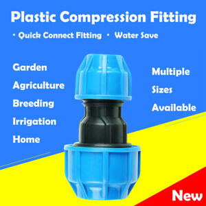 Plastic Compression Fitting PE Water Pipe Connector for Home Agriculture