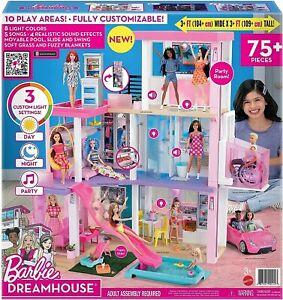 Barbie DreamHouse Dollhouse with Pool, Slide, Elevator, Lights and Sounds GRG93