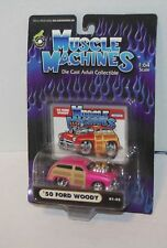 2001 MUSCLE MACHINES '50 Ford Woody Col. #01-52 Real Riders Pink 1950