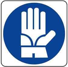n°10 ADESIVO segnaletica obbligo guanti protettivi 120x120 mm