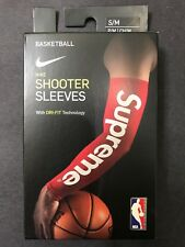 NEW FW17 SUPREME NIKE NBA SHOOTING SLEEVE 2 PACK RED S/M SMALL MEDIUM BLACK L/XL