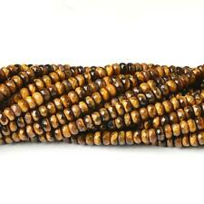 Tiger Eye Faceted Rondelle Beads 5x8mm Yellow/Brown 70+ Pcs Gemstones Jewellery