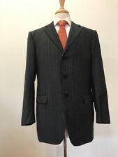 $3,798 Ermenegildo Zegna Mens Gray Striped 100% Wool Swiss Suit Size 42R 35x31