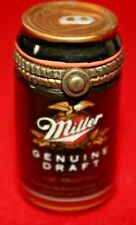 Porcelain Hinged Box Midwest Cannon Falls - Miller Genuine Draft Beer Can