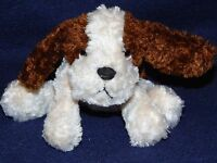 """5"""" Russ Berrie Luv Pets Brown & White TANNER Plush Puppy Dog"""