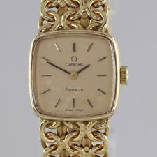 Vintage (1972) Omega Geneve 9ct yellow gold ladies manual link bracelet watch