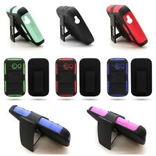 For Samsung Galaxy Ace Style S765c - Belt Clip Kickstand Phone Cover Hybrid Case